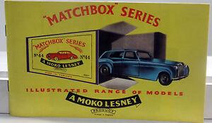 DTE EXCLUSIVE 1958 MOKO LESNEY MATCHBOX REGULAR WHEEL REPRODUCTION CATALOG