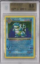 BGS 9.5 w/10 GEM MINT 1999 Pokemon Base 1st Edition #2 BLASTOISE Holo Shadowless