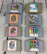 Lot 8 Nintendo 64 Retro Games Mario Kart Banjo Kazooie Pokemon Gold Silver Japan