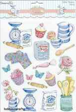 DOVECRAFT GLITTER STICKERS - CUPCAKES RANGE DCST048 -  DESERTS CUPCAKES - BAKING
