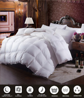15 Tog Hotel Quality Duck Feather & Down Duvet Quilt with Free Pillows **SALE**