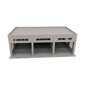 Outland Models Miniatures 3-Stall Large Garage for Trucks / Cars 1:64