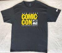 San Diego Comic Con Men's Large Short Sleeve T-Shirt Black