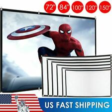 """60""""-150"""" Inch Projector Screen 16:9 HD Foldable Anti-Crease Projection Screen US"""
