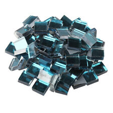 100Pcs Square Glass Mirror Mosaic Tiles Bulk Craft Supplies Diy Home Decoration