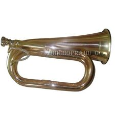 BRAND NEW MILITARIA EXCELLENT BRITISH ARMY BUGLE W/FREE HARD CASE AND MOUTHPIECE