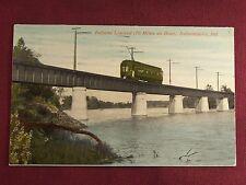 Indiana Limited Railroad Train Trolley 1913 Indianapolis Indiana RR Postcard