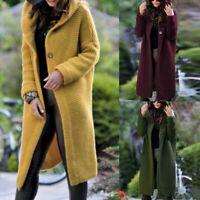 Women Plus Size Long Sleeve Knitted Cardigan Sweater Casual Outwear Coat Jacket