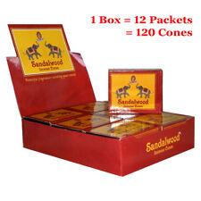 Kamini Incense Cones - SANDALWOOD - BULK - 1 Box = 12 packets = 120 Cones