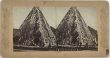 Pyramide de Cestius Rome Italie Photographie Stereo European Series Albumine