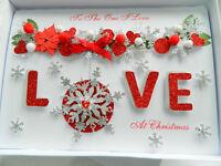 Luxury Personalised Handmade Christmas Card Husband Wife Boy/Girlfriend Gift Box