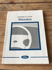 FORD MONDEO OWNERS MANUAL / HANDBOOK 2001 MODEL 4 & 5 DOOR & ESTATE