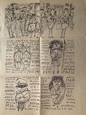 Jean Dubuffet plaquette sérigraphie