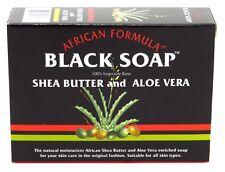 (3 Pack) AFRICAN FORMULA BLACK SOAP 3.5 Ounce SHEA BUTTER & ALOE VERA