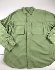 ExOfficio Permethrin Insect Shield Tick Repellent Green Shirt Men Large L Hiking