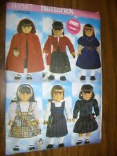 "18"" DOLL NEW Butterick 5587 Pattern Cape Sweater Dress Fits American Girl"