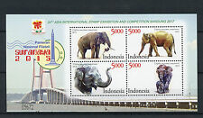 Indonesia 2015 MNH 34th Asia Int Stamp Exh Bandung 2017 4v M/S Elephants Stamps