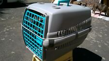 LARGE Pet Carrier Crate Basket Small Dog Or Cat Grey