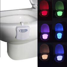 Toilettes LED Veilleuse Lampe Capteur Mouvement Automatique WC Lumière Cadeau NF