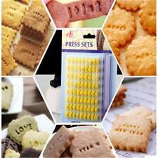 Biscuit Cookie Stamp Embosser Cake Mould Number Alphabet Letter Press Cutter JJ