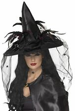 Cappelli e copricapi neri per carnevale e teatro dalla Germania, tema streghe