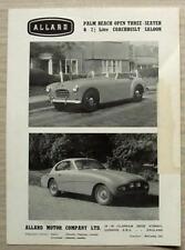 ALLARD PALM BEACH & 2 ¼ LITRE COACHBUILT SALOON Car Sales Leaflet c1955