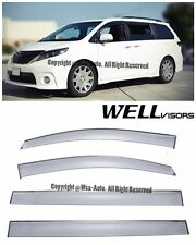 For 11-16 Toyota Sienna WellVisors Side Window Visors Premium Series Rain Guard