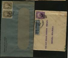 Ecuador 2  covers, one with revenue postage stamp      MS0824