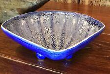 "Handmade Pottery Shell Dish 2.5""X10""X10"" SIGNED McC E 10 Stunning ART Piece"
