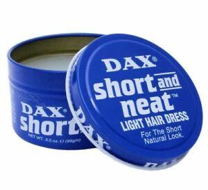 DAX Wax Blue Short And Neat Light Hair Dress 99g Tin / Light Hold Medium shine