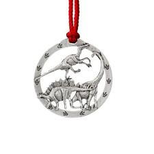 Creative Pewter Design Brontosaurus Dinosaur Pewter Christmas Ornament A192Or