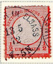 Germany - 1872 Scott #3 1/2gr red-orange USED