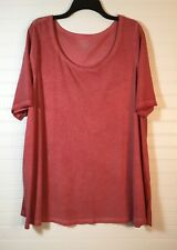 Lane Bryant Mahogany Red/Rose Top, Size 18/20. wear alone/ w jacket NWT