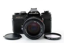 🌟 Mint 🌟 Minolta XD-S 35mm Black SLR Film Camera + MD Rokkor 50mm F/1.4 Japan