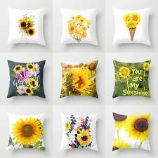 Tropical Summer sunflower throw pillows case sofa official cushion cover Decor