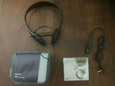 Sony Walkman Minidisc Player Mz-n510 Type S Working with Pouch/Headphones