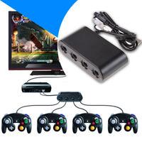 4 Port Gamecube Controller Adapter For Classic Wii U Super Smash Bros. PC USB
