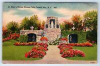 Vintage Linen Postcard St Mary's Shrine Haines Falls Catskill Mountains NY