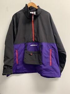 Adidas CNY Half-Zip Windbreaker Anorak Jacket Mens2 Black/Collegiate Purple
