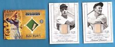 BABE RUTH JOE DIMAGGIO LOU GEHRIG GAME USED BAT CARD NATIONAL TREASURES YANKEES