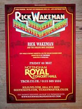 Rick Wakeman Journey To The Centre Of The Earth Concert Flyer Nottingham 2014