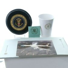 c1970's Air Force One Pilot Cup, Stationary, Matchbook, Postcard, and plaque