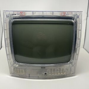 """RCA Secureview 13"""" Clear See Through Color TV Prison Inmate Gamer Television"""