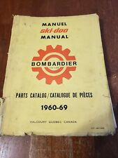 Vintage advertising ski-doo Bombardier snowmobile part catalog quebec 1960-1969