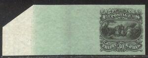 U.S. #121-E1p Unused Essay - 1869 30c Black on Pale Green ($275)