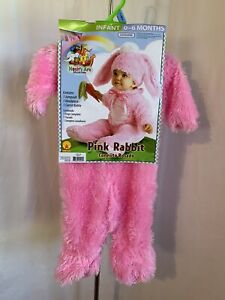 Noah's Ark Pink Rabbit Costume Infant 0-6 Months 3 Piece Halloween Set NWT