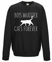 Boys Whatever Cats Forever - jumper