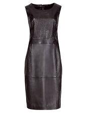 M&S PER UNA Speziale Leather Panelled Shift Dress Size UK8/EUR36