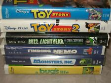 Disney Pixar Vhs Lot - Toy Story 1 + 2, Finding Nemo, Monsters Inc, Bug'S Life