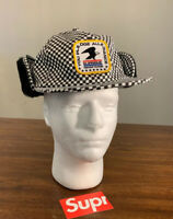 SUPREME EARFLAP 6-panal Checkerboard (IN HAND) FW19 FAST SHIP AUTHENTIC SIZE S/M